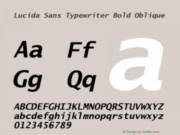 Lucida Sans Typewriter Bold Oblique Version 1.00 Font Sample