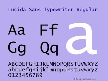 Lucida Sans Typewriter Regular Version 1.00 Font Sample