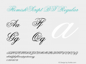 FlemishScript BT Regular mfgpctt-v1.52 Tuesday, January 26, 1993 3:01:20 pm (EST) Font Sample