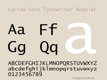 Lucida Sans Typewriter Regular Version 1.67 Font Sample