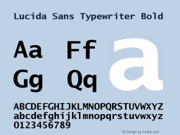 Lucida Sans Typewriter Bold September 21, 1998; 1.00 (JAVA) Font Sample