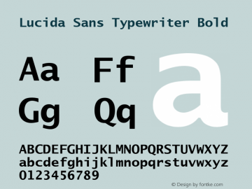 Lucida Sans Typewriter Bold Version 1.50 Font Sample