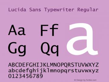 Lucida Sans Typewriter Regular Version 1.50 Font Sample