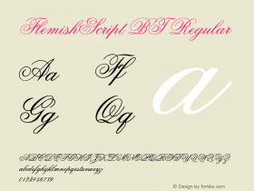 FlemishScript BT Regular mfgpctt-v1.64 Thursday, May 20, 1993 2:51:39 pm (EST) Font Sample
