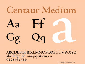 Centaur Font Family|Centaur-Serif Typeface-Fontke com