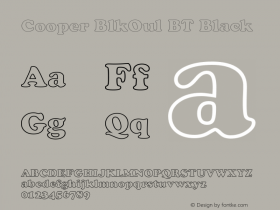 Cooper BlkOul BT Black mfgpctt-v1.54 Thursday, February 11, 1993 2:02:50 pm (EST)图片样张