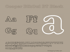 Cooper BlkOul BT Black mfgpctt-v4.4 Jan 1 1999图片样张