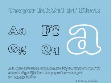 Cooper BlkOul BT Black mfgpctt-v1.64 Wednesday, May 19, 1993 12:22:40 pm (EST)图片样张