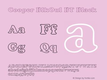 Cooper BlkOul BT Black mfgpctt-v1.54 Thursday, February 11, 1993 2:02:50 pm (EST)图片样张