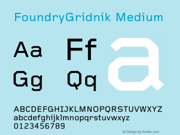 FoundryGridnik Medium 001.000 Font Sample