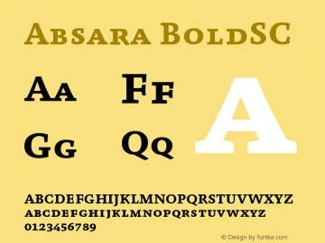 Absara BoldSC Version 004.460图片样张