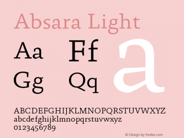 Absara Light Version 004.460图片样张