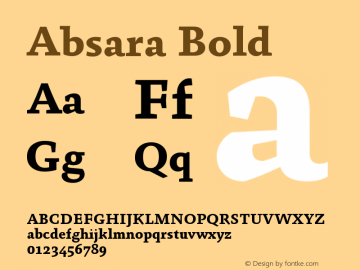 Absara Bold Version 004.460图片样张
