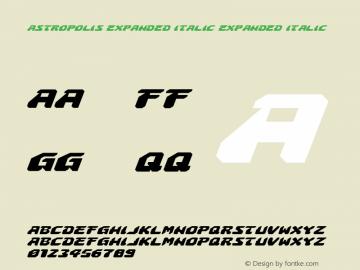 Astropolis Expanded Italic Expanded Italic 001.000图片样张