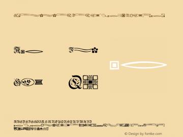 GriffinDingbats Regular OTF 1.0;PS 001.001;Core 116;AOCW 1.0 161 Font Sample