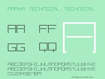 Amaya Technical Technical Version 1.0图片样张