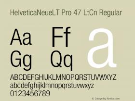 HelveticaNeueLT Pro 47 LtCn Regular Version 1.000;PS 001.000;Core 1.0.38 Font Sample