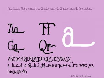 Nathan Alternates Condensed Condensed Regular Version 1.001 2009 Font Sample