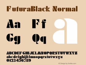 FuturaBlack Normal 1.000 Font Sample