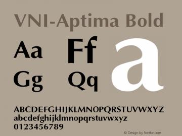 VNI-Aptima Bold 1.0 Sun Apr 25 08:35:26 1993 Font Sample