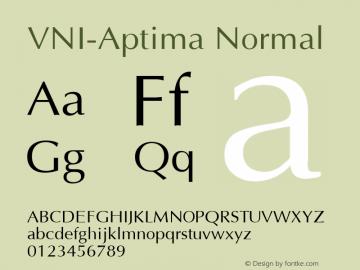 VNI-Aptima Normal 1.0 Sun Apr 25 08:49:49 1993 Font Sample