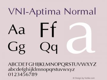 VNI-Aptima Normal 1.0 Tue Jan 18 11:33:59 1994 Font Sample