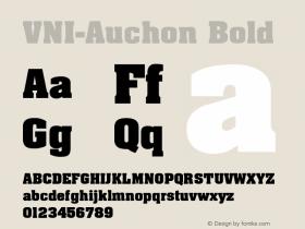 VNI-Auchon Bold 1.0 Sun Apr 25 08:57:04 1993 Font Sample