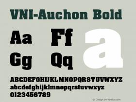 VNI-Auchon Bold 1.0 Tue Jan 18 11:34:47 1994 Font Sample