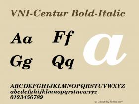 VNI-Centur Bold-Italic 1.0 Sun Apr 25 09:06:28 1993 Font Sample
