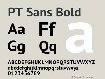 PT Sans Bold Version 2.005W Font Sample