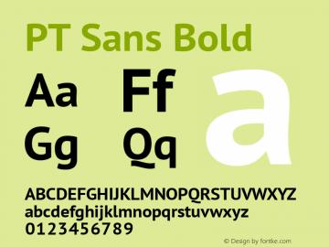 PT Sans Bold Version 1.002 Font Sample