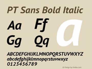 PT Sans Bold Italic Version 1.003 Font Sample