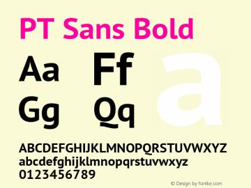 PT Sans Bold Version 2.003 Font Sample