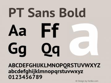 PT Sans Bold Version 2.001 Font Sample