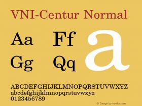 VNI-Centur Normal 1.0 Sun Apr 25 09:11:47 1993 Font Sample