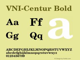 VNI-Centur Bold 1.0 Tue Jan 18 11:38:23 1994 Font Sample