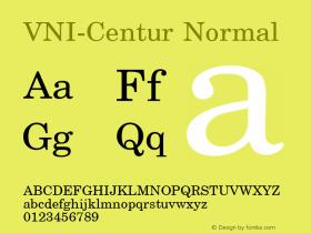 VNI-Centur Normal 1.0 Tue Jan 18 11:45:05 1994 Font Sample