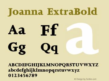 Joanna ExtraBold Version 1 Font Sample