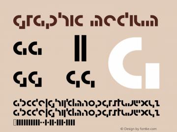Graphic Medium Version 001.000 Font Sample