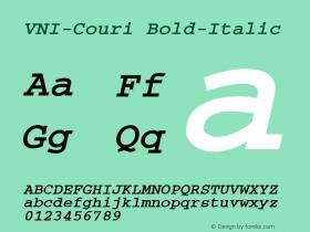 VNI-Couri Bold-Italic 1.0 Sun Apr 25 09:30:47 1993 Font Sample