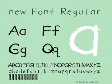 new Font Regular Version 1.000图片样张