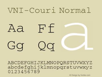 VNI-Couri Normal 1.0 Tue Jan 18 11:49:18 1994 Font Sample
