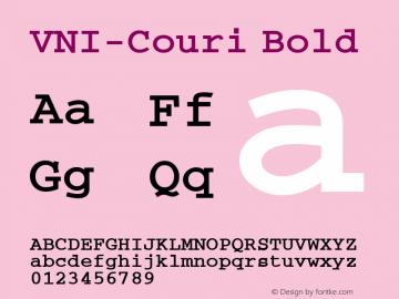 VNI-Couri Bold 1.0 Tue Jan 18 17:38:22 1994 Font Sample