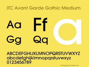 ITC Avant Garde Gothic Medium Version 001.000 Font Sample