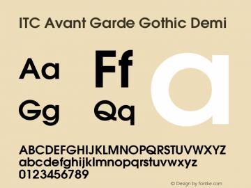 ITC Avant Garde Gothic Demi Version 001.007 Font Sample