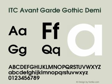 ITC Avant Garde Gothic Demi Version 002.000 Font Sample