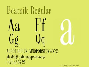 Beatnik Regular 001.000 Font Sample