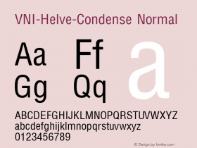VNI-Helve-Condense Normal 1.0 Tue Jan 18 17:43:31 1994图片样张