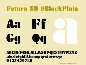 Futura ND 9BlackPlain Version 001.001图片样张