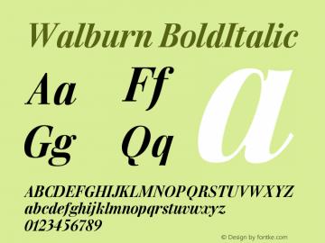 Walburn BoldItalic Version 001.000图片样张